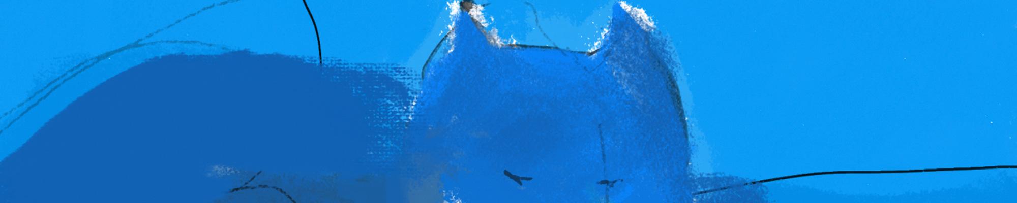 Dusty in blue © 2021 Anne-Riet de Boer