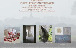 flyer voor expositie persingen oktober 2021